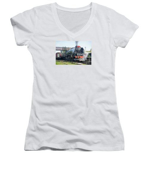 The Royal Scot At Butterley Women's V-Neck