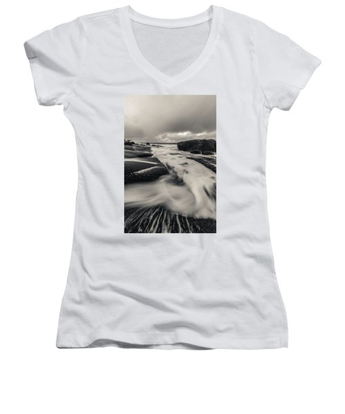 The Rush Of The North Sea Women's V-Neck (Athletic Fit)