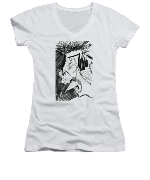 The Scream - Picasso Study Women's V-Neck (Athletic Fit)
