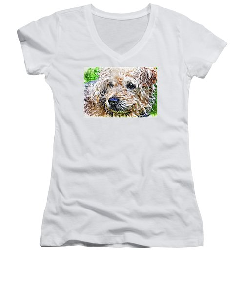 The Scruffiest Dog In The World Women's V-Neck