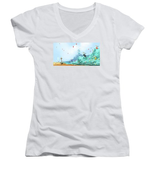 The Seagull's Cup..the Oldest Trophy In The Seafaring Calendar Women's V-Neck T-Shirt