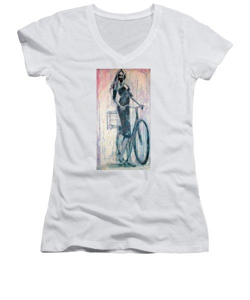 The She Wolf Women's V-Neck T-Shirt