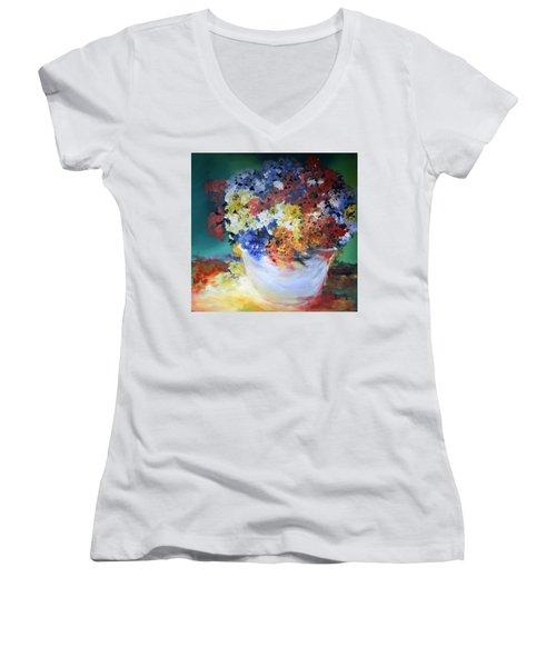 The Silver Pot Women's V-Neck T-Shirt