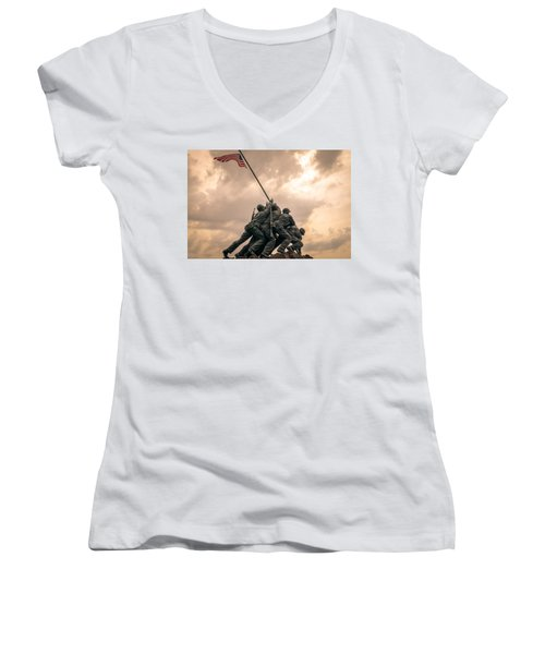 The Skies Over Iwo Jima Women's V-Neck