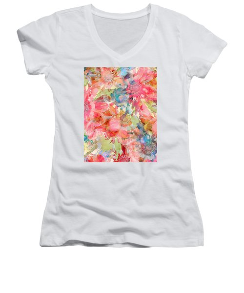 The Smell Of Spring Women's V-Neck (Athletic Fit)