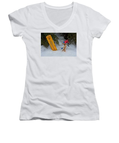 The Snowstorm Women's V-Neck (Athletic Fit)