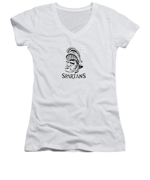 The Spartans Women's V-Neck T-Shirt (Junior Cut) by Vika Chan