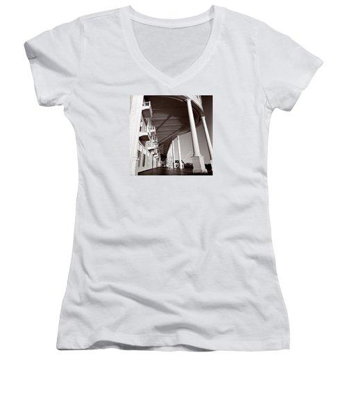 The Spirit Of Mackinac Women's V-Neck T-Shirt
