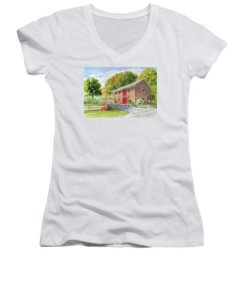 The Stone House Women's V-Neck (Athletic Fit)