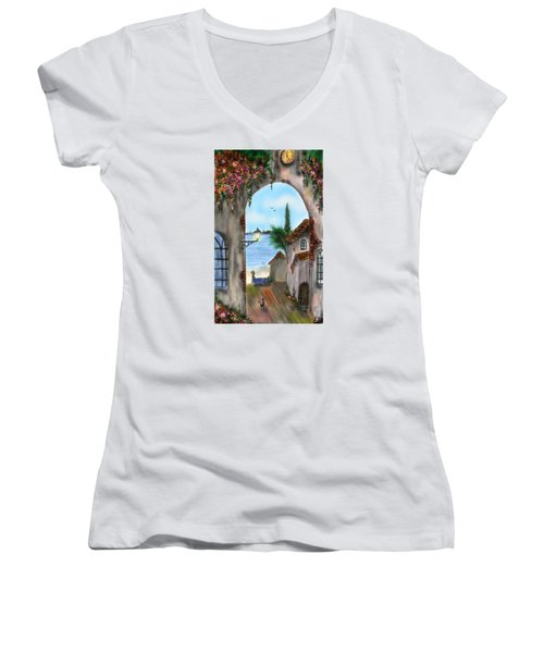 The Street Women's V-Neck T-Shirt (Junior Cut) by Darren Cannell