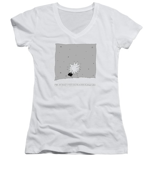 The Sun Going To Work Each Day Women's V-Neck