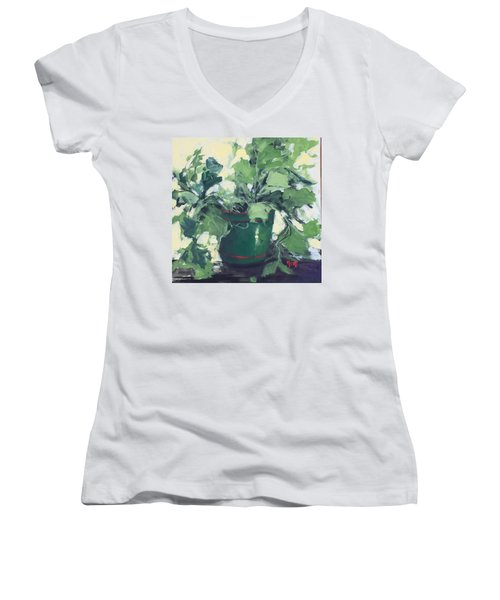 The Sweet Potato Plant Women's V-Neck (Athletic Fit)