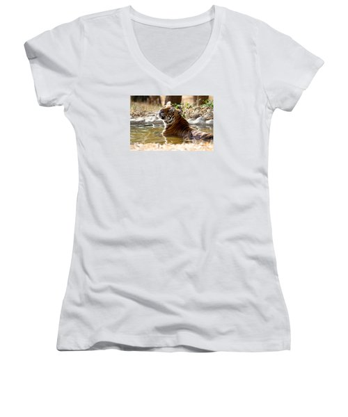 The Thinker Women's V-Neck T-Shirt (Junior Cut)
