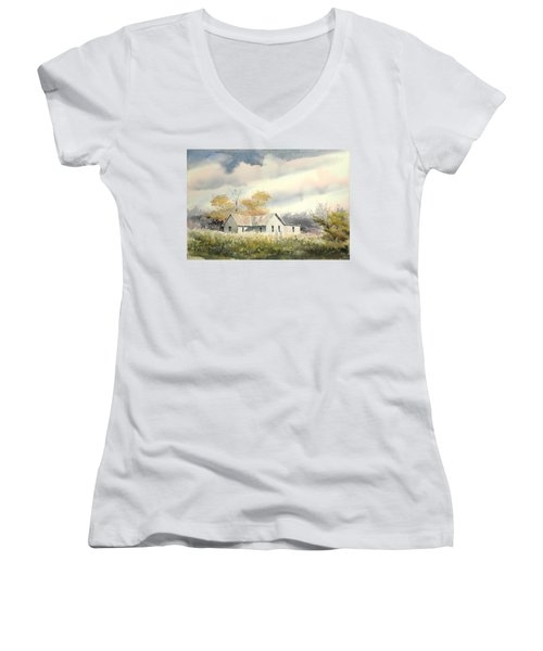The Thompson Place Women's V-Neck T-Shirt (Junior Cut) by Sam Sidders