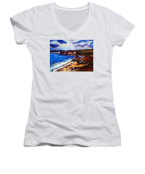 The Three Cliffs Bay Women's V-Neck (Athletic Fit)