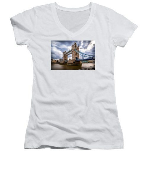 The Three Towers Women's V-Neck T-Shirt (Junior Cut) by Giuseppe Torre