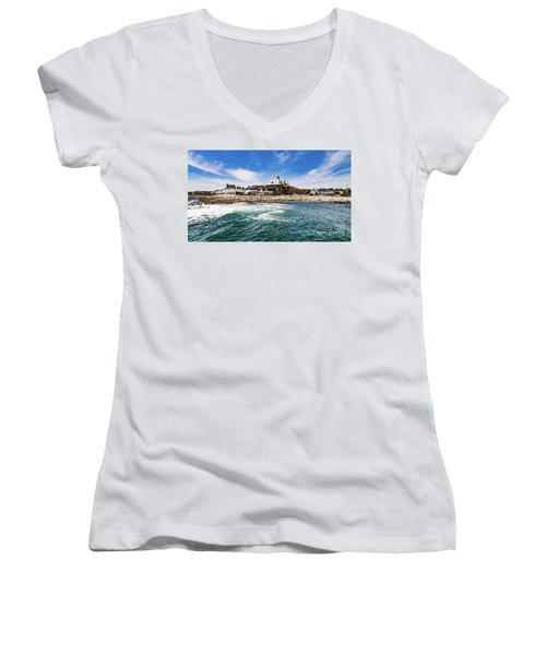 The Towers Of Narragansett  Women's V-Neck (Athletic Fit)