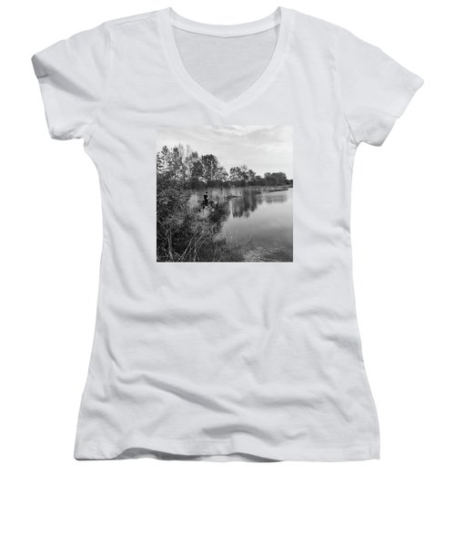 Moving The Water Women's V-Neck T-Shirt