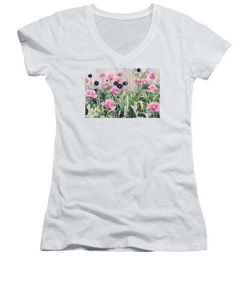 The Tulip Garden Women's V-Neck T-Shirt