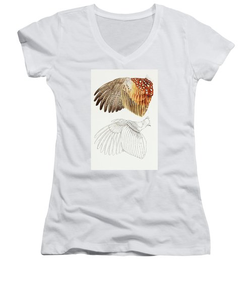 The Upper Side Of The Pheasant Wing Women's V-Neck