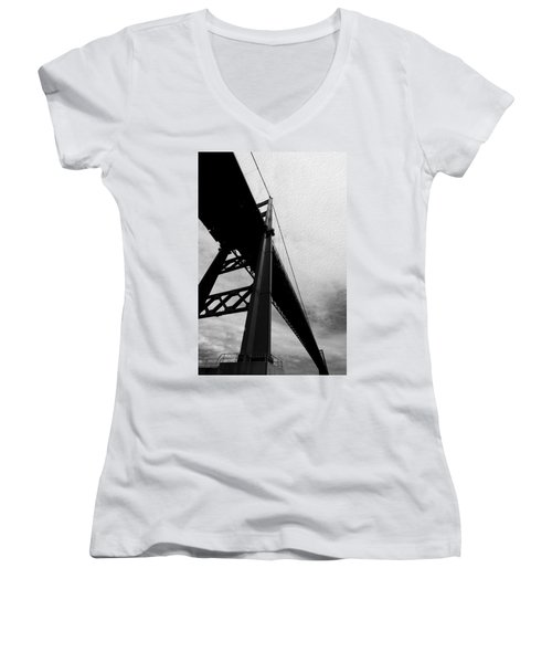 The Vincent Thomas Women's V-Neck T-Shirt (Junior Cut) by Joe Schofield