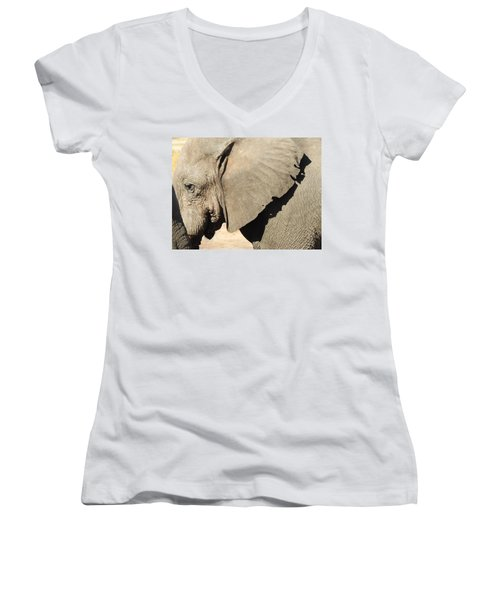 Women's V-Neck T-Shirt (Junior Cut) featuring the photograph The Weathered Look by Betty-Anne McDonald