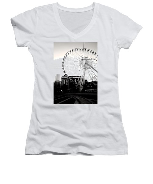 The Wheel Black And White Women's V-Neck