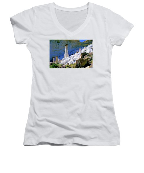 The White Hoodoos Women's V-Neck (Athletic Fit)