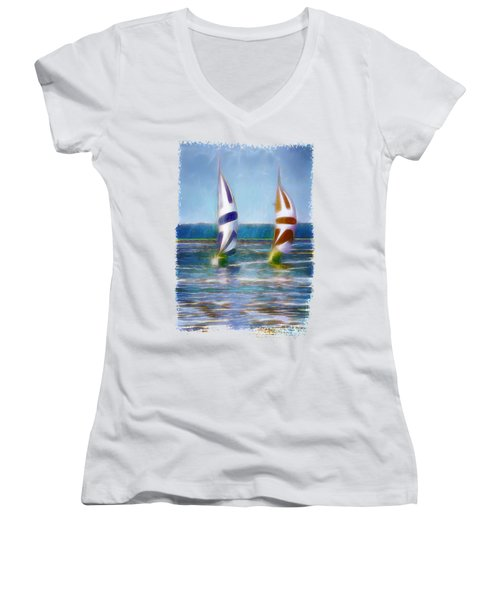 The Wind In Your Sails Women's V-Neck T-Shirt
