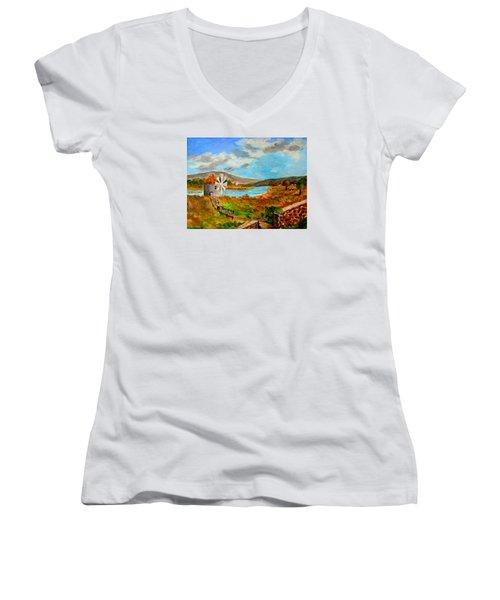 The Windmill Women's V-Neck T-Shirt