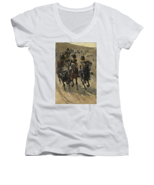 The Yellow Riders, George Hendrik Breitner, 1885 - 1886 Women's V-Neck (Athletic Fit)