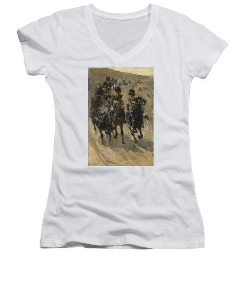 The Yellow Riders, George Hendrik Breitner, 1885 - 1886 Women's V-Neck