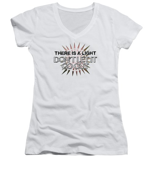 There Is A Light Women's V-Neck T-Shirt (Junior Cut) by Clad63
