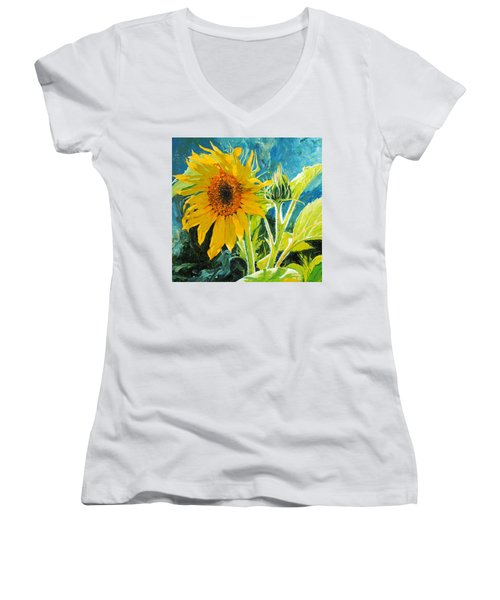 There's A New Bud In Town Women's V-Neck T-Shirt