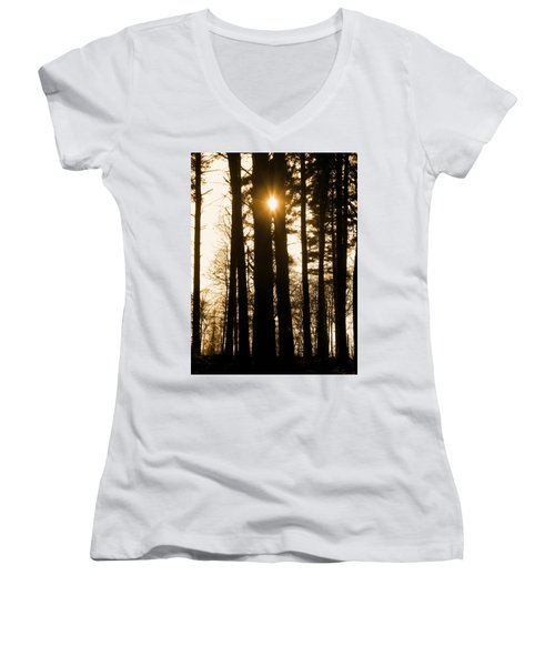There's Always The Sun Women's V-Neck (Athletic Fit)
