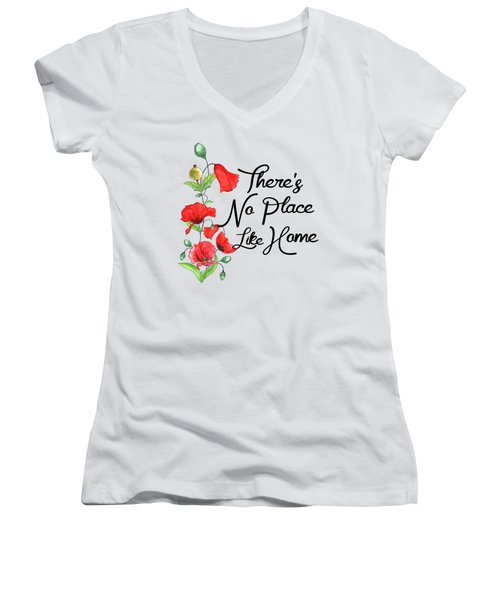 Theres No Place Like Home Women's V-Neck (Athletic Fit)