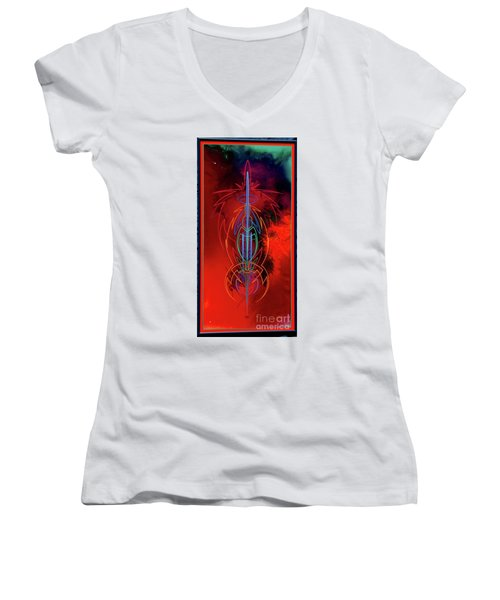 They Like Red  Women's V-Neck T-Shirt