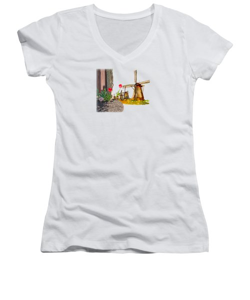 Thinkin Bout Home Women's V-Neck T-Shirt (Junior Cut) by Larry Bishop