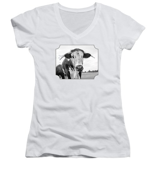 This Is My Field - Black And White Women's V-Neck (Athletic Fit)
