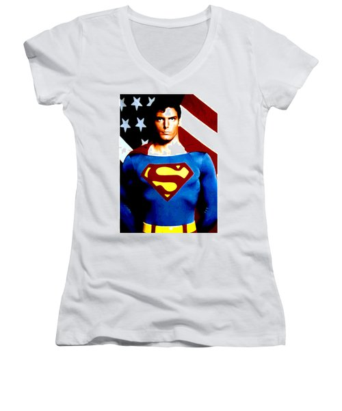 This Is Superman Women's V-Neck (Athletic Fit)