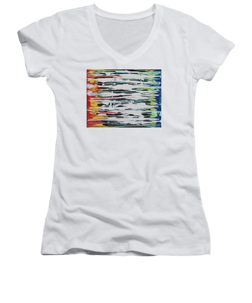This Is Us Women's V-Neck T-Shirt (Junior Cut) by Cyrionna The Cyerial Artist