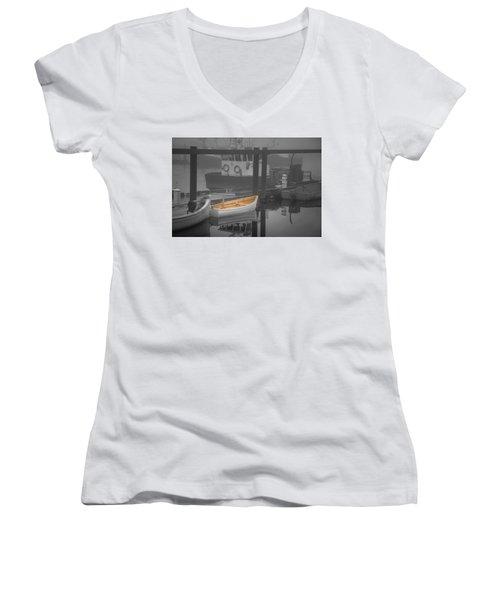 This Little Boat Women's V-Neck T-Shirt (Junior Cut) by Peter Scott