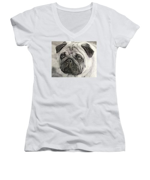 This Puggy Women's V-Neck T-Shirt
