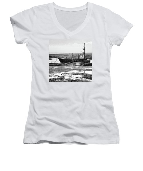 Thornham Harbour, North Norfolk Women's V-Neck (Athletic Fit)