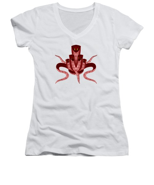 Those Five Snakes Women's V-Neck (Athletic Fit)
