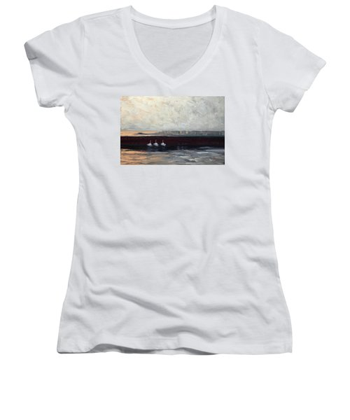 Three Boats Women's V-Neck (Athletic Fit)