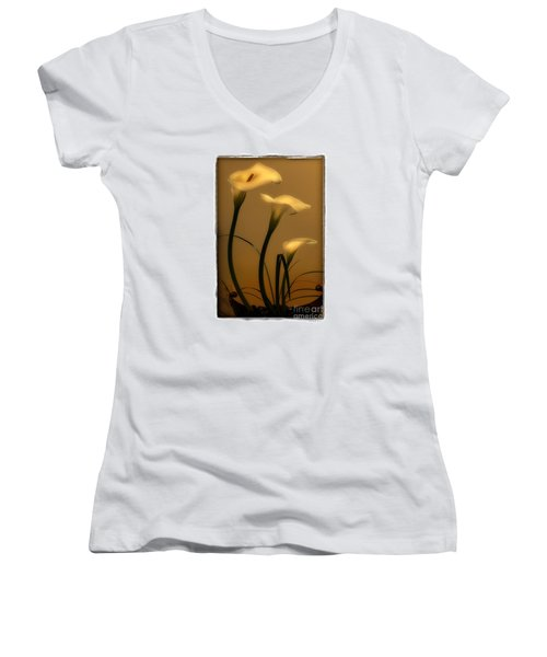 Three Lilies Women's V-Neck T-Shirt (Junior Cut)