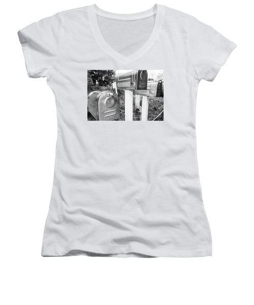 Three Mailboxes Women's V-Neck