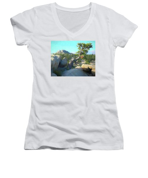 Three Peaks View Women's V-Neck (Athletic Fit)