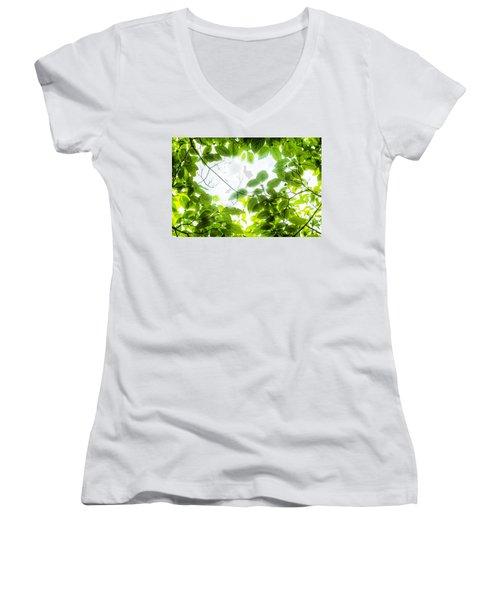Through The Leaves Women's V-Neck